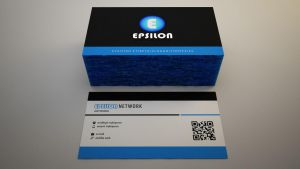 EPSILON NETWORKS logo and business card #1 by senon