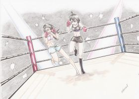 Request - Sam and Paulina boxing! by erbrow7