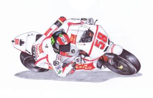 Ballpoint Pen, 58, Marco Simoncelli by onecuriouschip