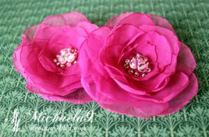 Flower brooches by Michaela9