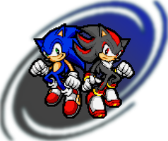 Sonic_Shadow_Advance_Pixel_Art by PixelPower23