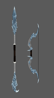 Ice Staff and Bow by TheMoonOfJune