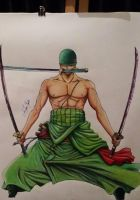 Roronoa Zoro by MilaNympha