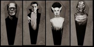 Universal Monster coffins by b2rianLS