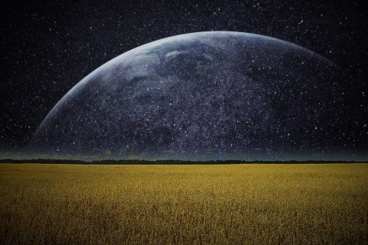 Earth in the night - Wallpaper by Angela-White