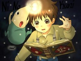 Ni No kuni a Studio Ghibli Game done colour by JasiChan17