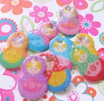 Matryoshka Nesting Doll Charms by MigotoChou