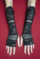 Black Lace mix gloves by Estylissimo