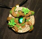 Heart of the sacred Forest - handmade Pendant by Ganjamira