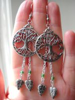 Leaf and Branch earrings by Ravenhart