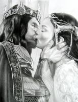 Aragorn and Arwen by Starkadder