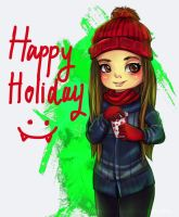 Happy Holiday everyone! by koy-kartoon