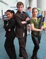 SDCC - Doctor Who trio by rashaka