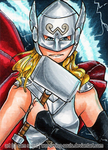 Lady Thor [Day 24] by wondering-souls