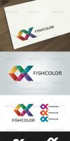Fish Color Logo Template by domibit