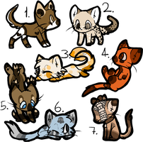 Chibi Cat Adopts CLOSED by ghostiibear