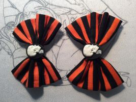 Skeleton Cameo Hairbows by Hairwego13