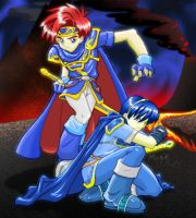 Marth and Roy by MagikPantz