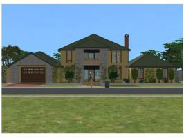 Sims 2 Simple family house by RamboRocky
