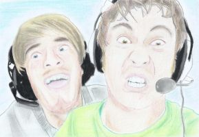 Pewdiepie and Tobuscus by nintendude695
