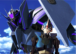 Arcee x Soundwave - A Glimpse of Your Splendor by TheWhovianHalfling
