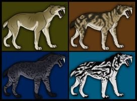 Saber-tooth Cat Adopts - ALL SOLD by WynBird