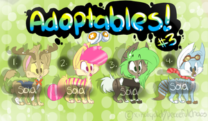 !Adoptables! #3 - Closed by XxPeacefulChaosxX