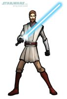DRAW OBI-WAN KENOBI from THE CLONE WARS by grantgoboom