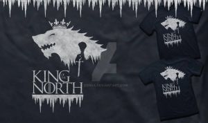 King of the North Tshirt by Zonsa