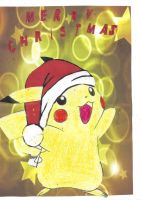 haPPY pikachu christmas 2011 by alucardserasfangirl