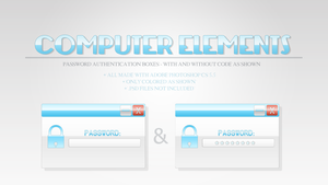 Password Boxes - Computer Elements by LucarioRose24