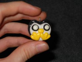 Penguin Polymer Clay Charm by ResurrectedVampire69