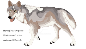 Wolf adoptable Auction :TAKEN: by Kultapossu