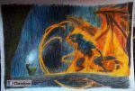Lord of the Rings, Gandalf fight with Balrog by Christyne01