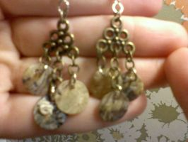 Beach Shell Earrings by EllasDesigns