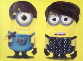 Tegan and Sara Minions by billywallwork525