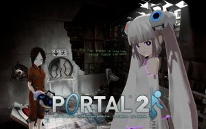 MMD Portal 2 Wallpaper XL by olivaaa