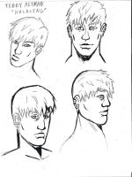 Teddy Altman Face Sketches by Colour-of-Dreams