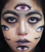 Avarice - Multiple Eyes Makeup by BandGeekNinja0723