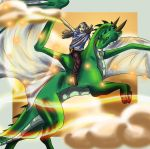 Rider and dragon by Denece-the-sylcoe
