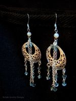 Crystal Chandelier Earrings by Klarenden
