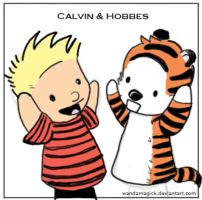 Calvin and Hobbes FingerPuppet by Calvin228
