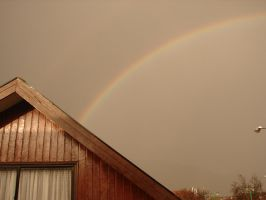 Rainbow on a dull day by Eliwi