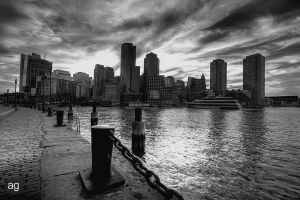 Boston Harbor by AlexandreGuilbeault