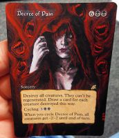 Magic Card Alteration: Decree of Pain 3-2-14 by Ondal-the-Fool