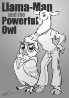 Llama-Man and the Powerful Owl by animator
