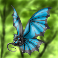 Blue Morpho Butterfly Dragon by 0-Stargazer-0