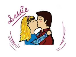 Seddie surprise-attack kiss by SeddieThunder