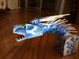 Ice dragon craft (finished) by SnapDragonStudios
