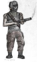 Post-Apocalyptic grenadier by daStig177